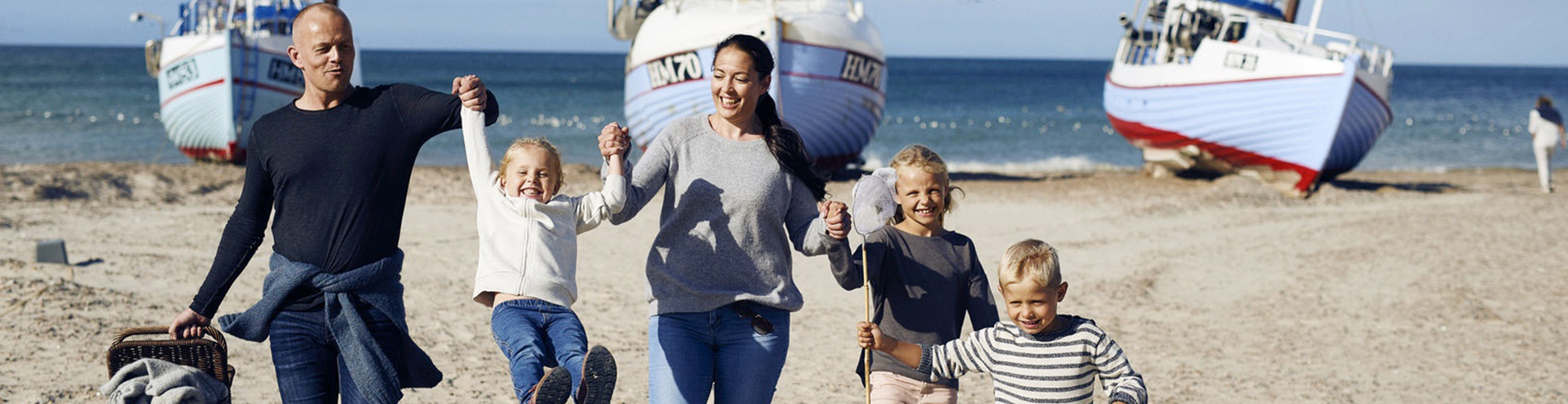 Familie im Dänemark Urlaub