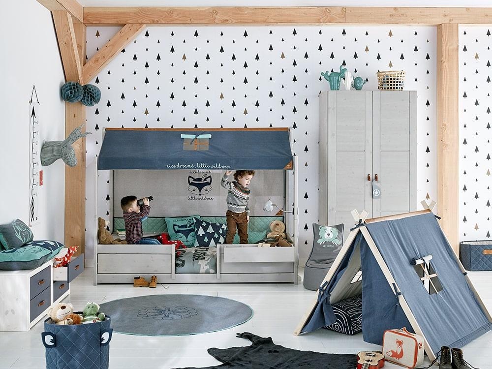 Kinderzimmer skandinavisch Massivholz bei Expo Natura